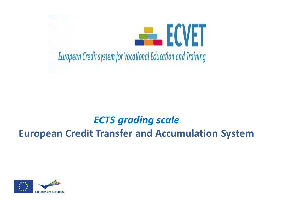 ECTS grading scale European Credit Transfer and Accumulation System