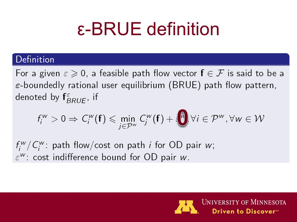 ε-BRUE definition
