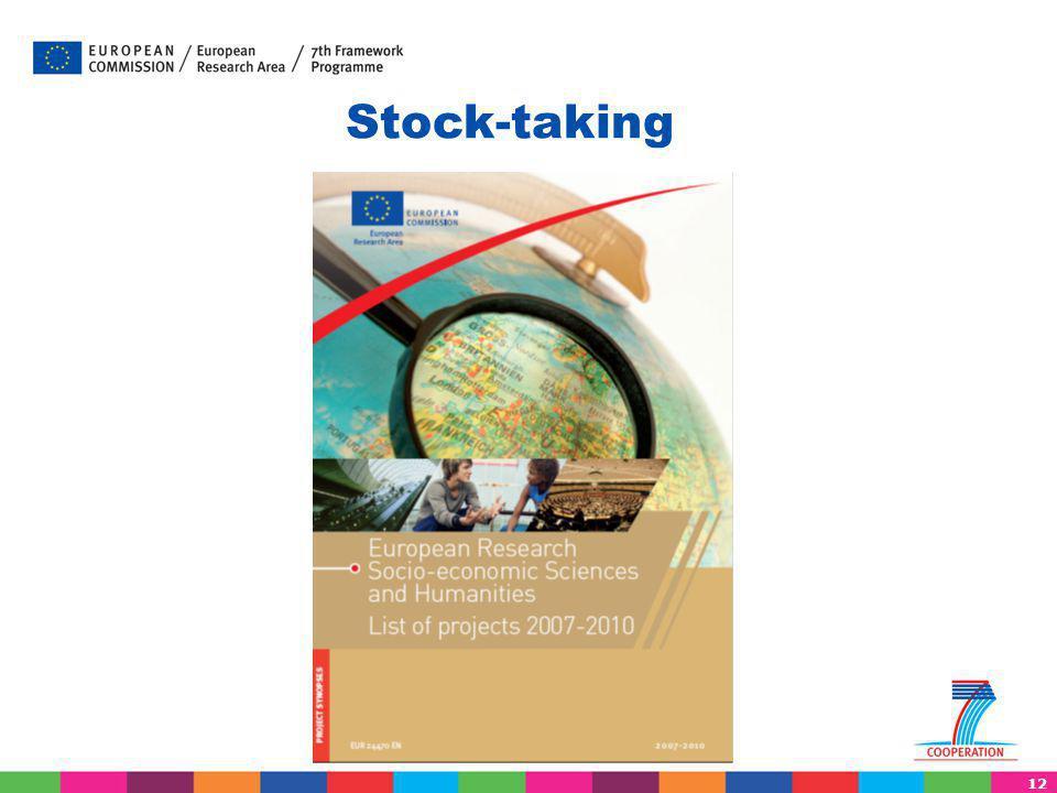 12 Stock-taking