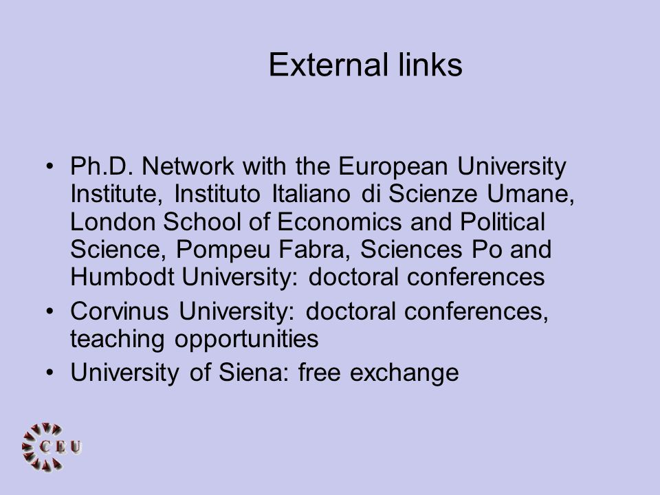 External links Ph.D.