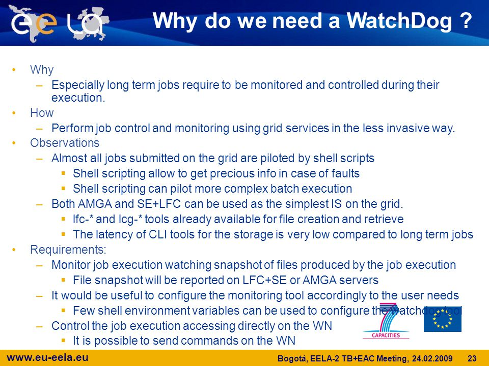 www.eu-eela.eu Why do we need a WatchDog .