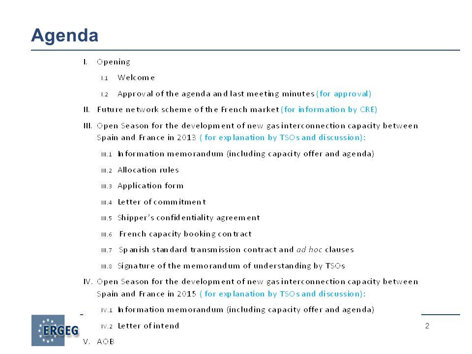 2 Agenda