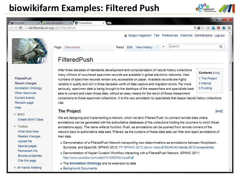 biowikifarm Examples: Filtered Push