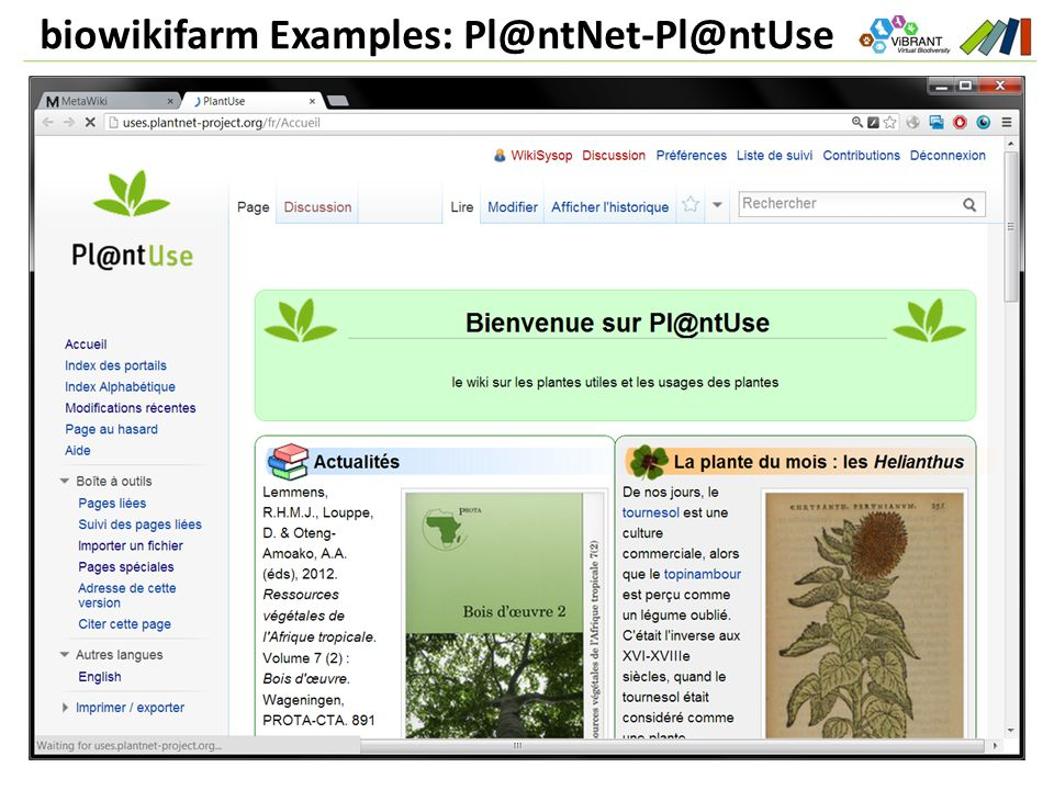 biowikifarm Examples: Pl@ntNet-Pl@ntUse