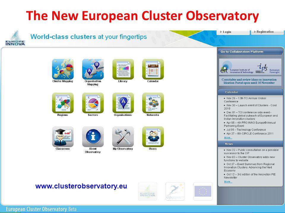 The New European Cluster Observatory www.clusterobservatory.eu