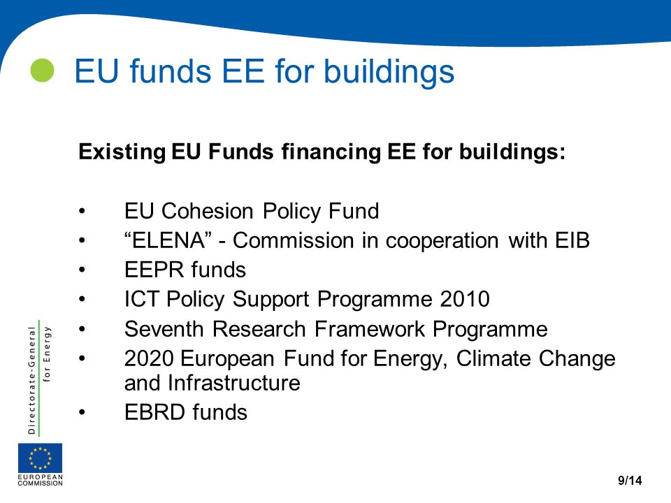 Learn from examples 10/14 European Structural and Cohesion funds Budget (2007-2013): EUR 308 billion (35,7% of total EU budget) Purpose: support of regional growth and job creation e.g.