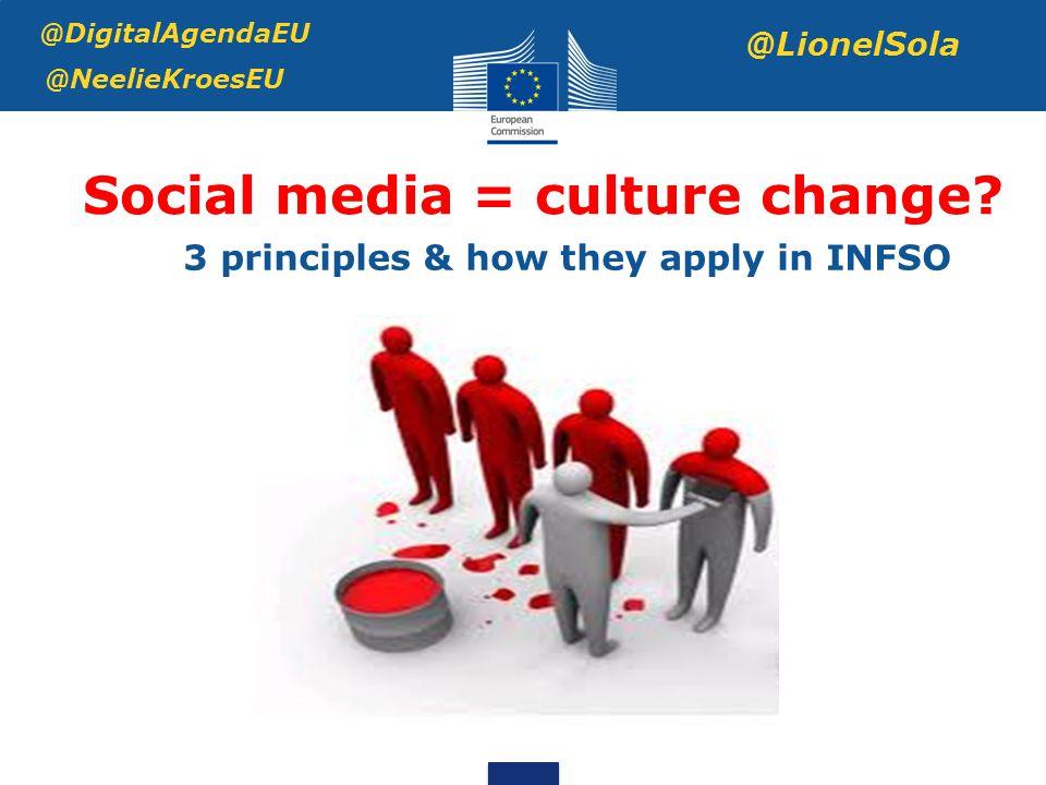 Social media = culture change.