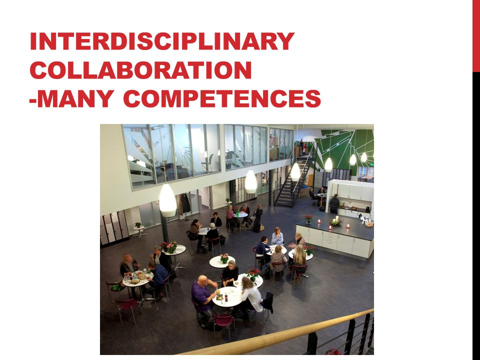 INTERDISCIPLINARY COLLABORATION -MANY COMPETENCES