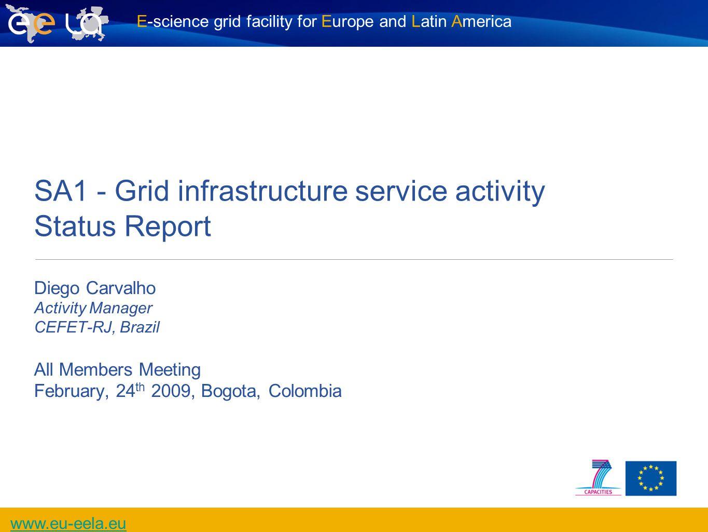 E-science grid facility for Europe and Latin America www.eu-eela.eu All members Meeting, 1 st EELA-2 Conference, Bogota, 2009-02-24 2 EELA-2 Organisation