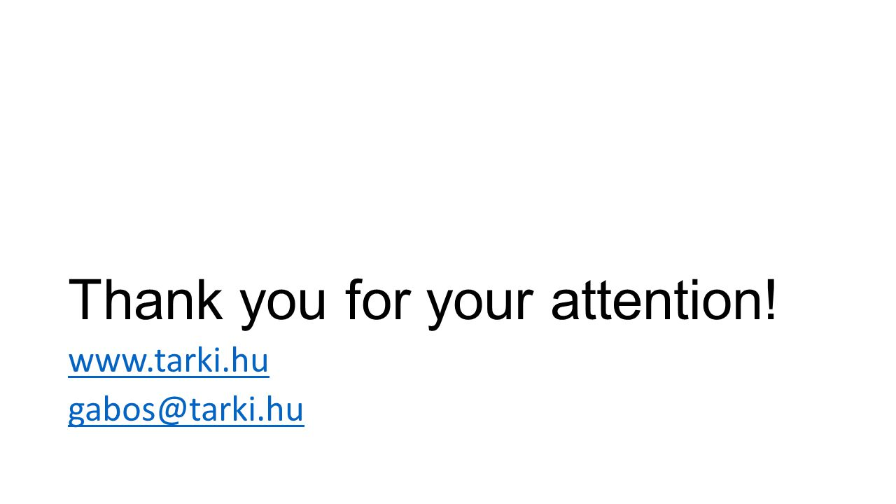 Thank you for your attention! www.tarki.hu gabos@tarki.hu