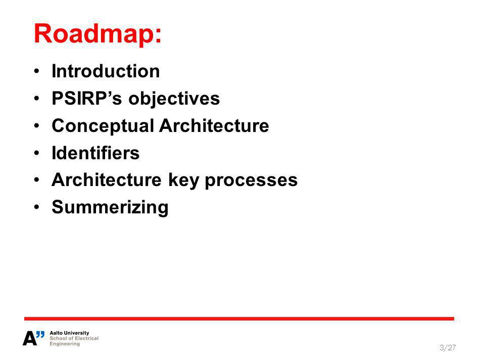 Key entities of the architecture 14/27