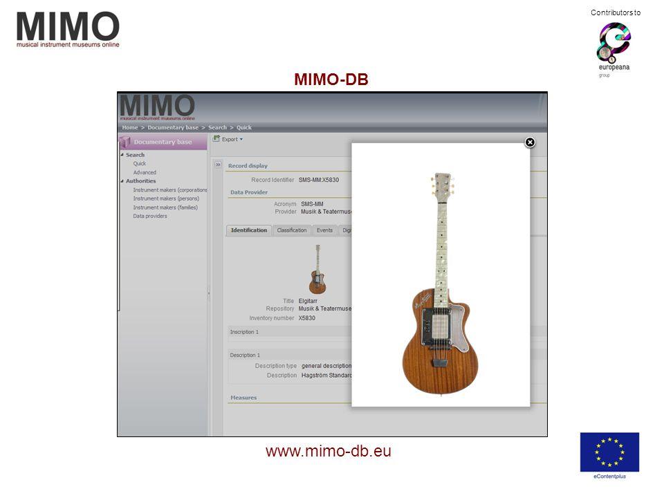 MIMO-DB www.mimo-db.eu Contributors to