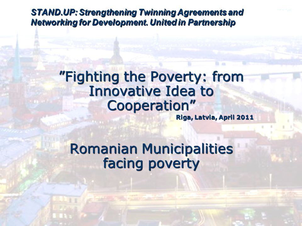 STAND.UP: Strengthening Twinning Agreements and Networking for Development.