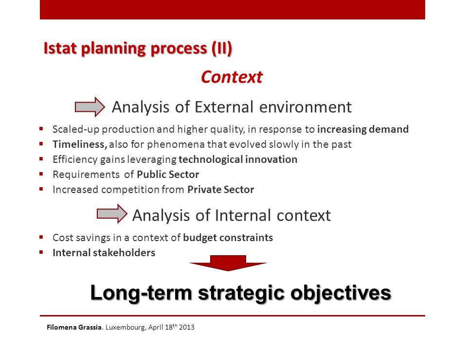 Istat planning process (III) Filomena Grassia.