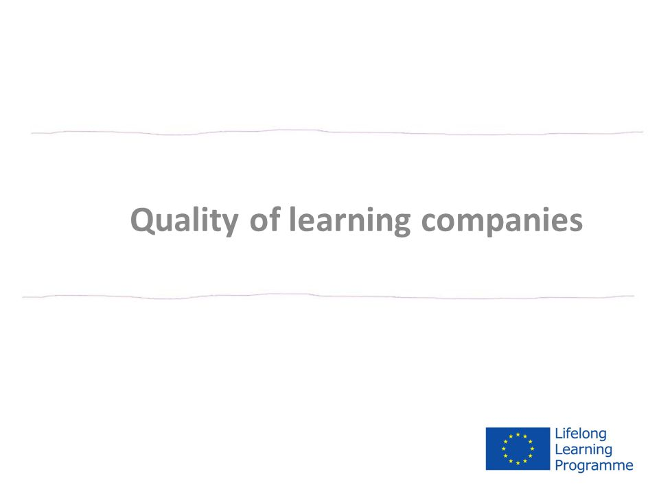 Quality of learning companies