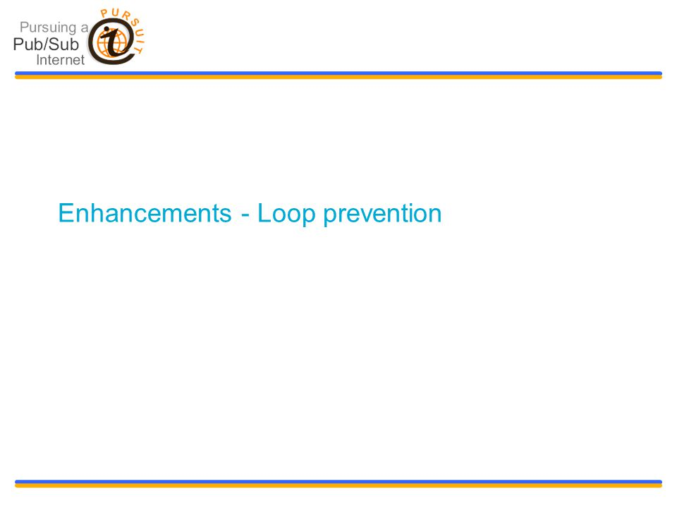 Slide title 48 pt Slide subtitle 30 pt Enhancements - Loop prevention