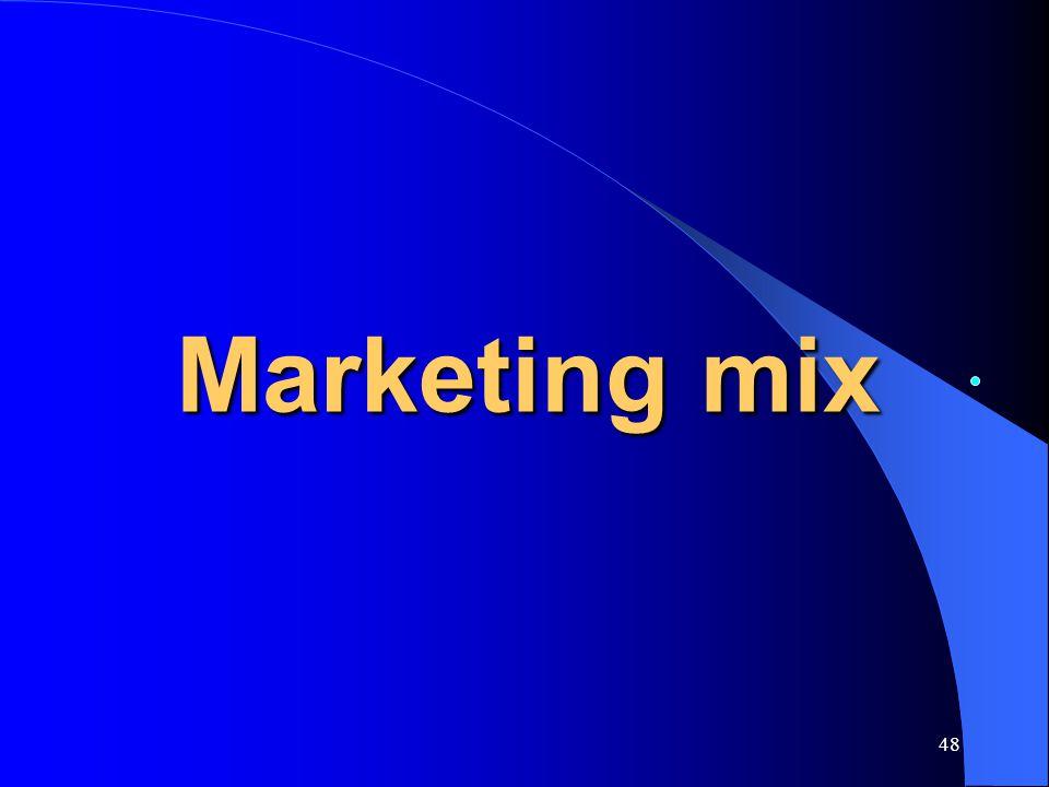 48 Marketing mix