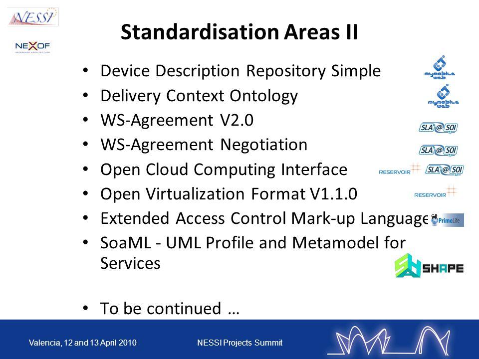 NEXOF Standards Catalogue 12/10/201410 available on http://www.nexof-ra.eu/?q=node/529