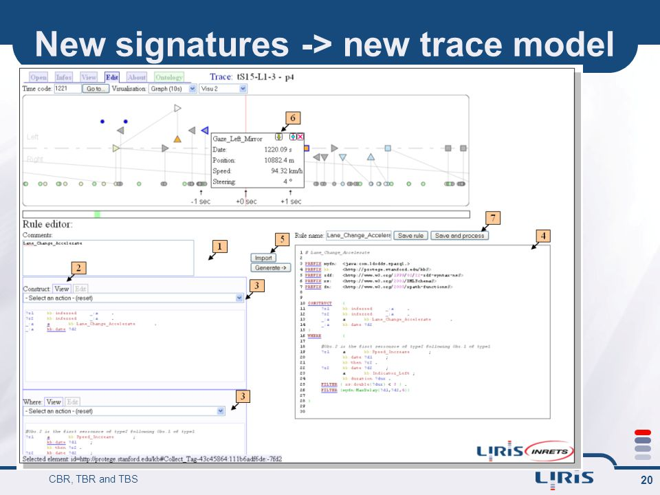 New signatures -> new trace model CBR, TBR and TBS 20