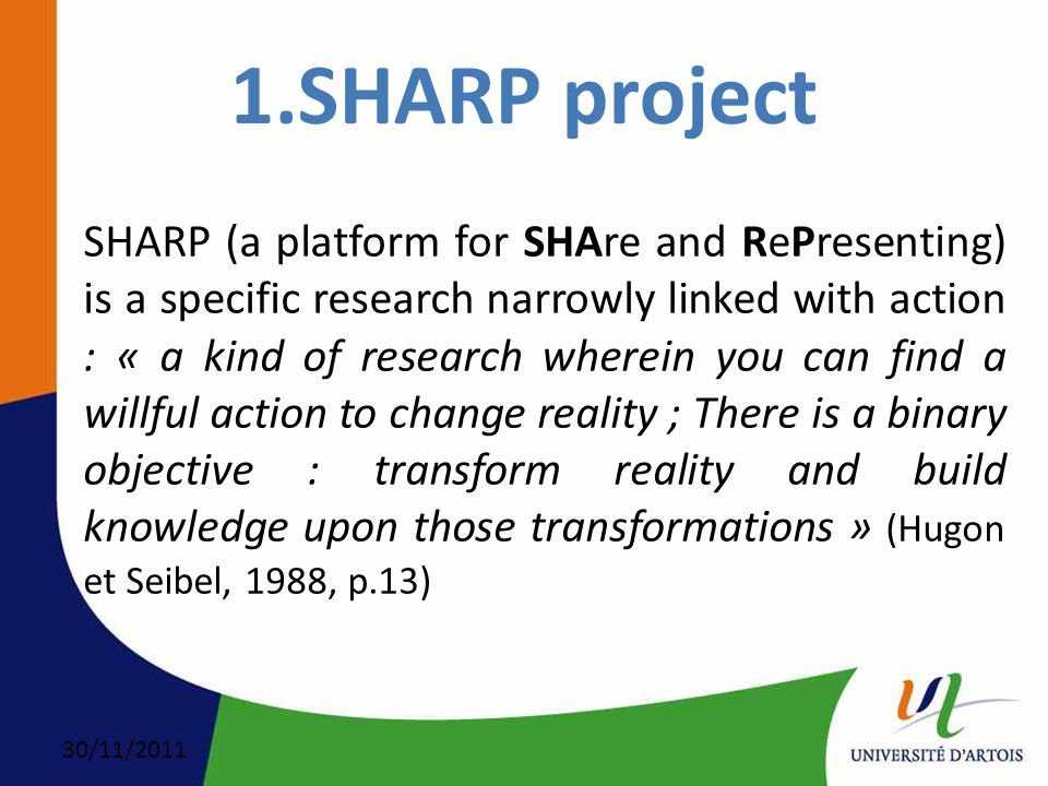 30/11/2011 SHARP's Partners