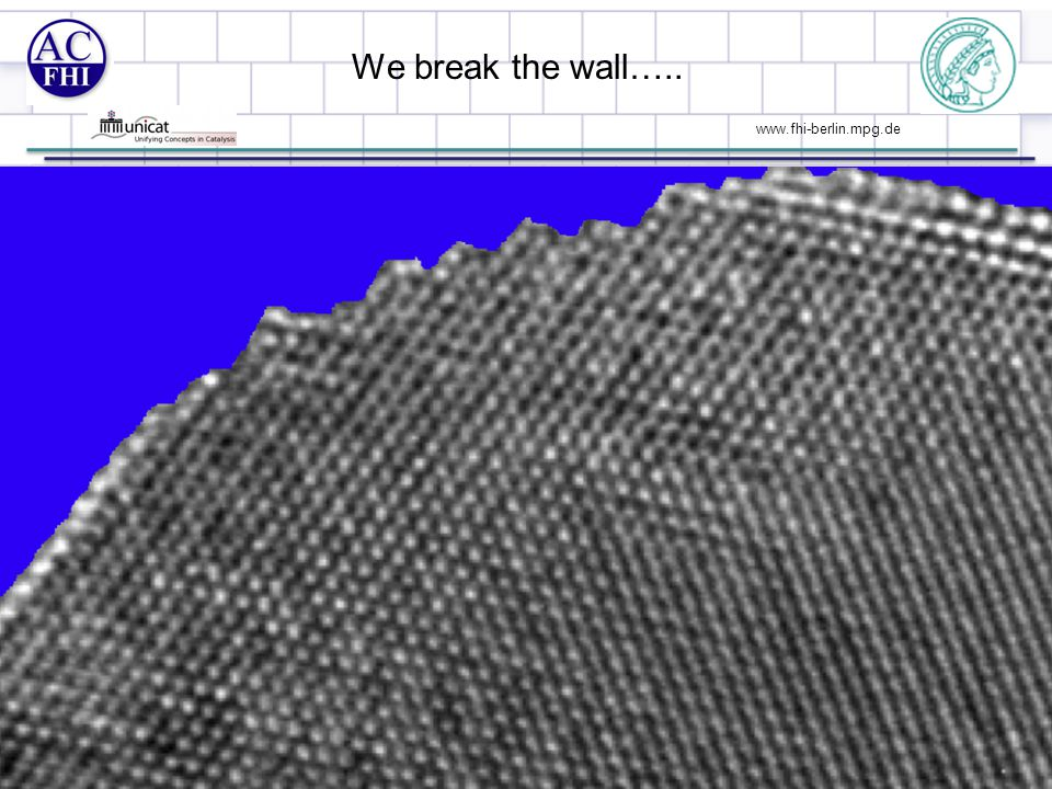 www.fhi-berlin.mpg.de We break the wall….. 10