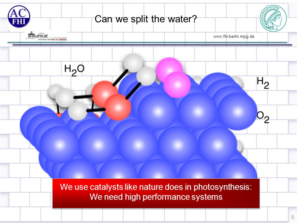 www.fhi-berlin.mpg.de Can we split the water.