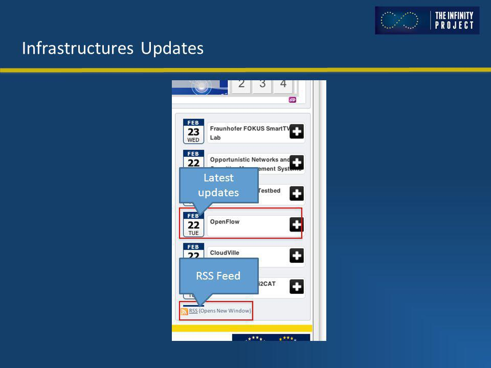 Infrastructures Updates Latest updates RSS Feed