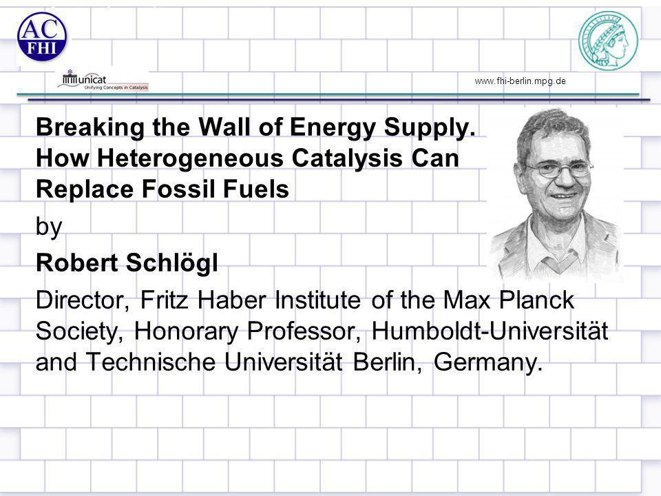 www.fhi-berlin.mpg.de Fossil energy: always (?) at hand… 2 Source: IEA, Greenpeace, 2011 CO 2 emissions (Mio t)
