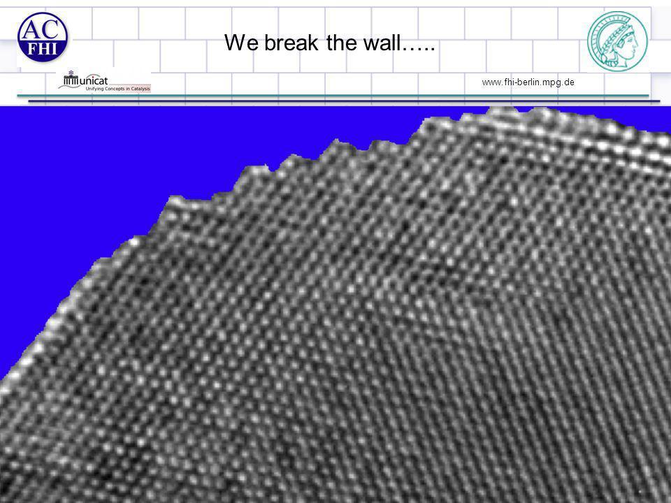 www.fhi-berlin.mpg.de We break the wall….. 9