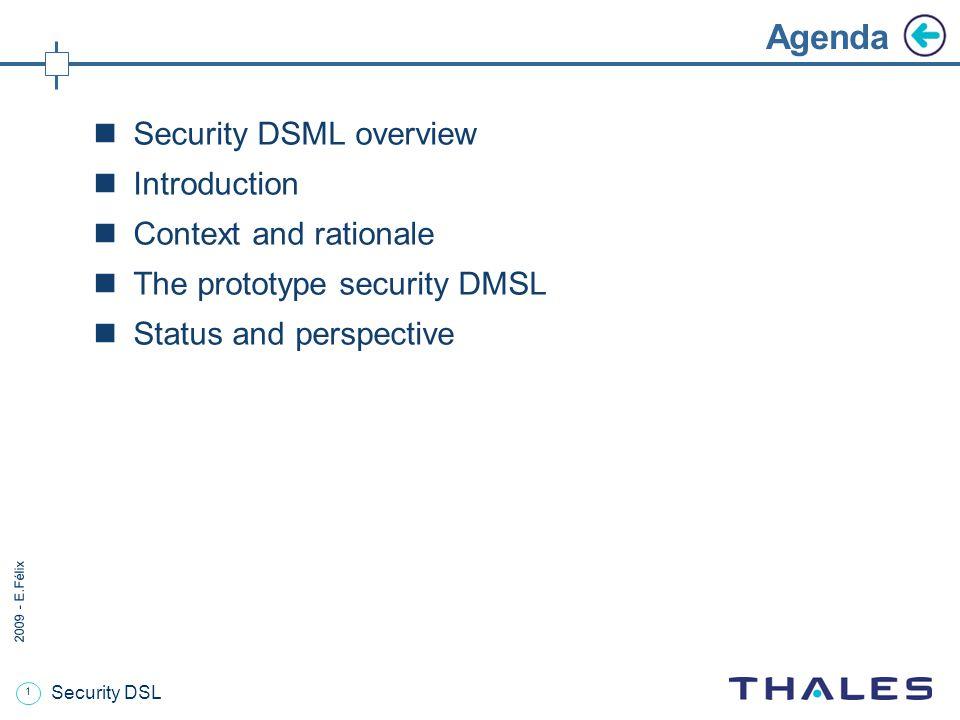 12 2009 - E.Félix Security DSL The risk-related meta-model