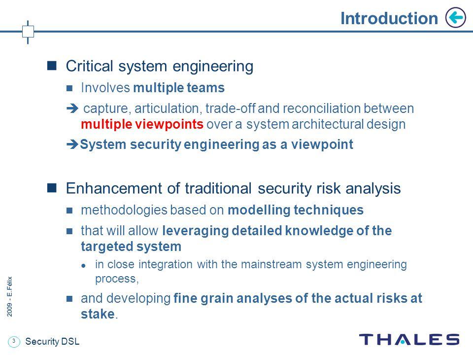 14 2009 - E.Félix Resulting Security DSL Tool