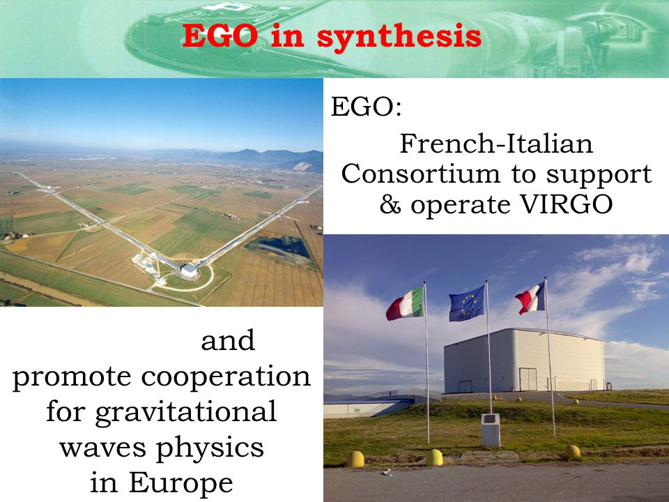 Coordination of EU projects: 2004/2008 Participant of the ILIAS (Integrated Large Infrastructures for Astro-Particle Science) project, coordinator of the networking activity: N5-GW Antenna 2008/2011 Einstein Telescope coordination of the whole project management of the centralized budget support to the ET science team interface with the European Commission for all the financial aspects reporting activity EGO & EU