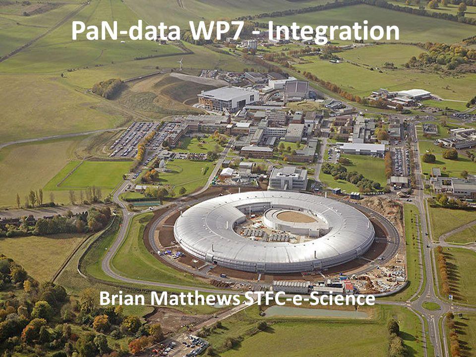 PaN-data WP7 - Integration Brian Matthews STFC-e-Science