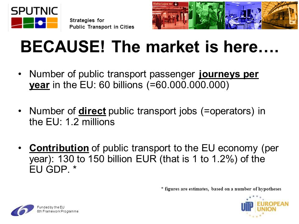 Strategies for Public Transport in Cities Funded by the EU 6th Framework Programme BECAUSE.
