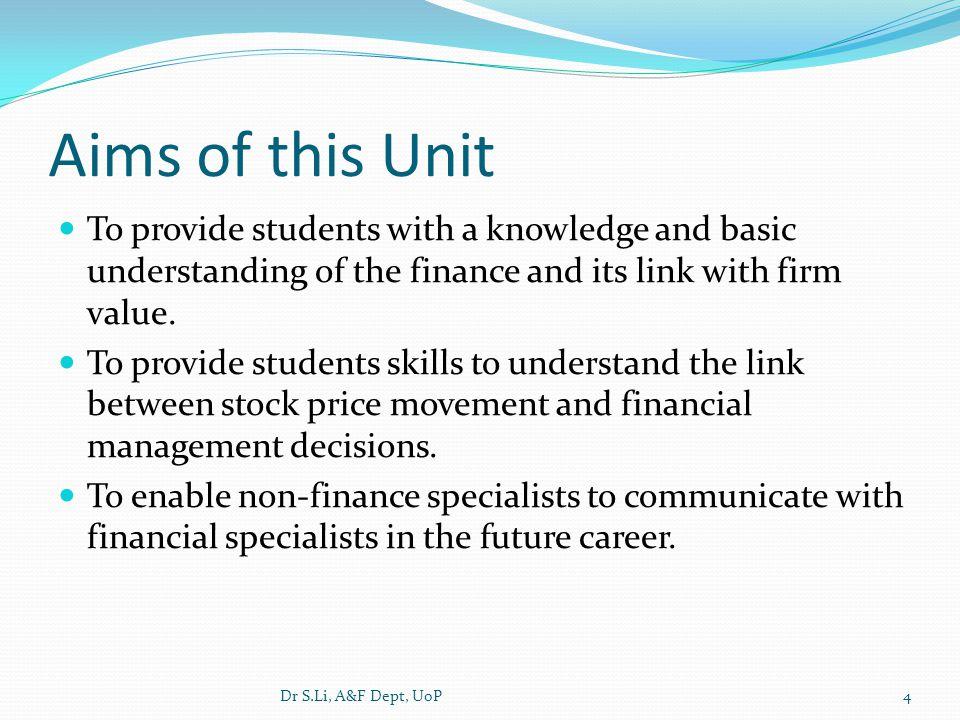 Lecturers Course co-ordinator: Dr Shaling Li (SL) External: 023-9284-4295 shaling.li@port.ac.uk Lecturer: Ms Lena Itangata (LI) External: 023-9284-4010, lena.itangata@port.ac.uklena.itangata@port.ac.uk Dr S.Li, A&F Dept, UoP5