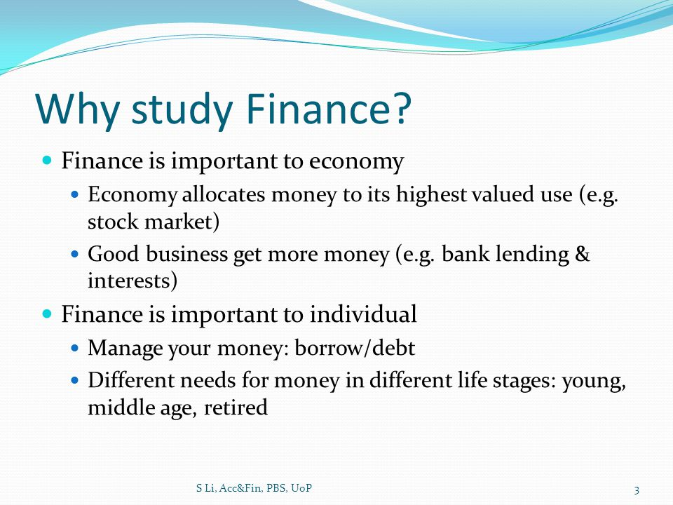 How to study finance.