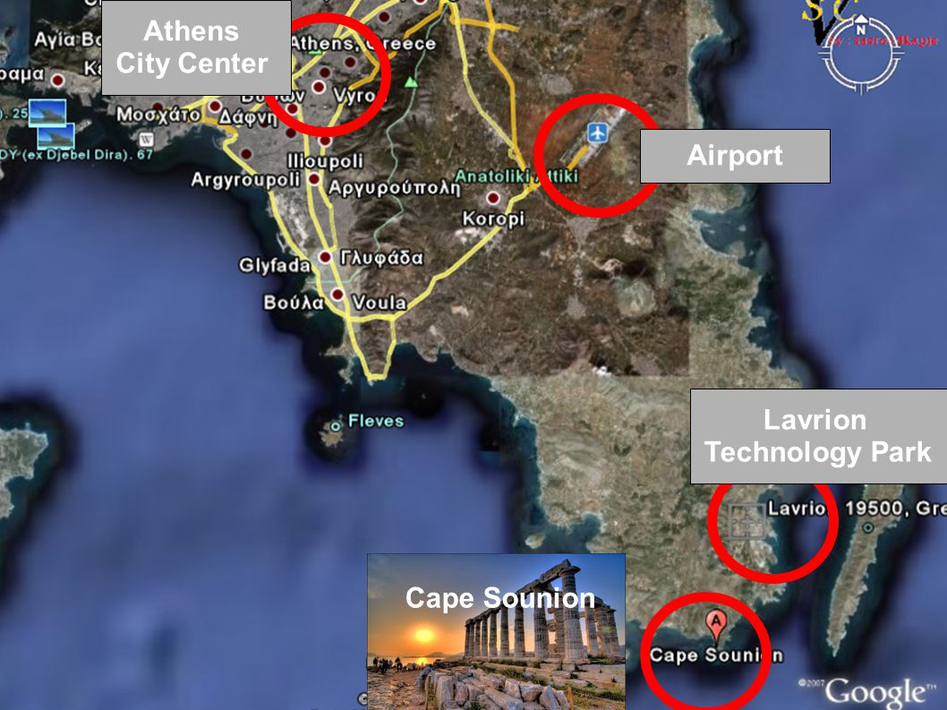 Airport Lavrion Technology Park Athens City Center Cape Sounion