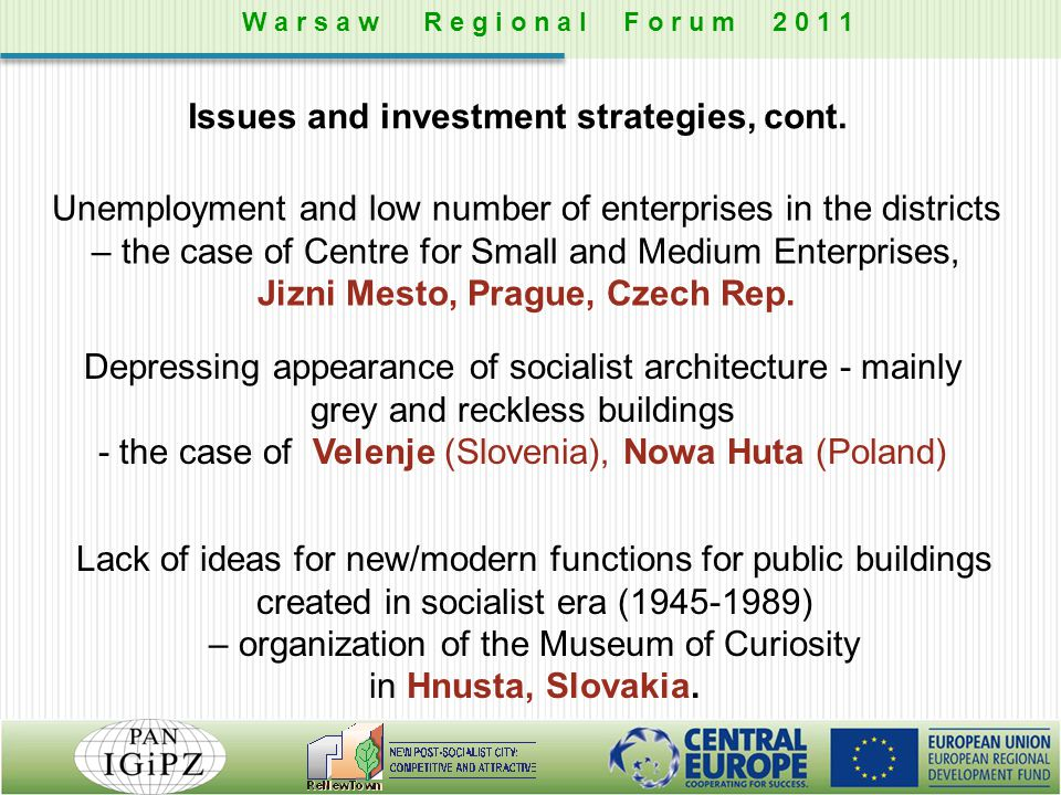 Unemployment and low number of enterprises in the districts – the case of Centre for Small and Medium Enterprises, Jizni Mesto, Prague, Czech Rep. Dep