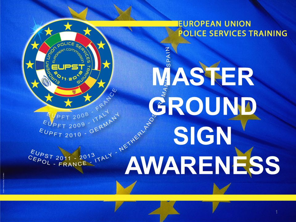1 MASTER GROUND SIGN AWARENESS