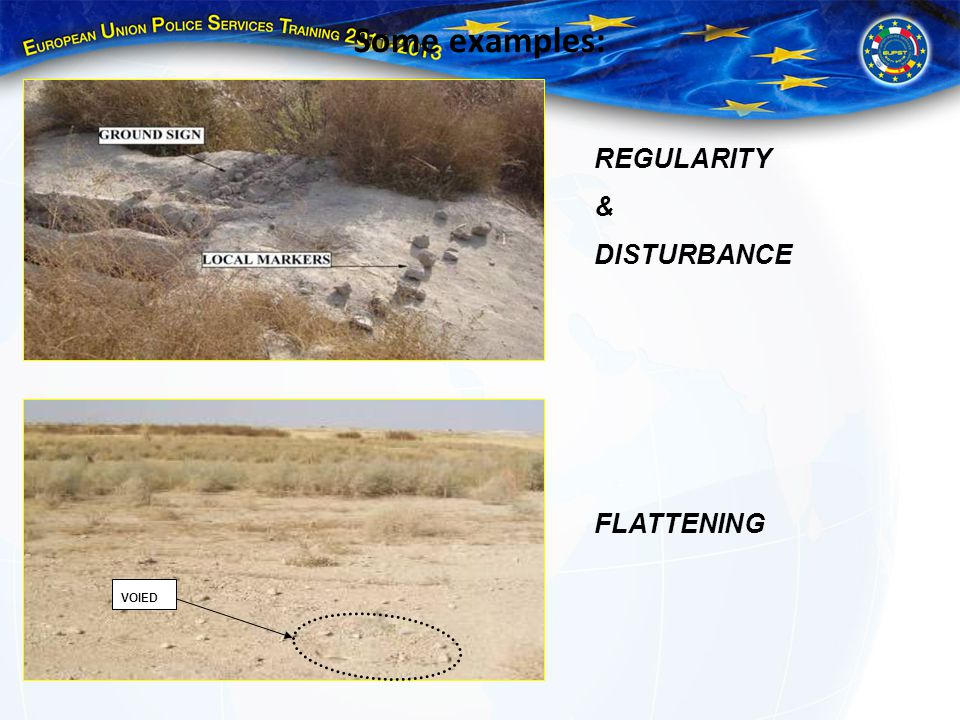 Some examples: REGULARITY & DISTURBANCE FLATTENING VOIED