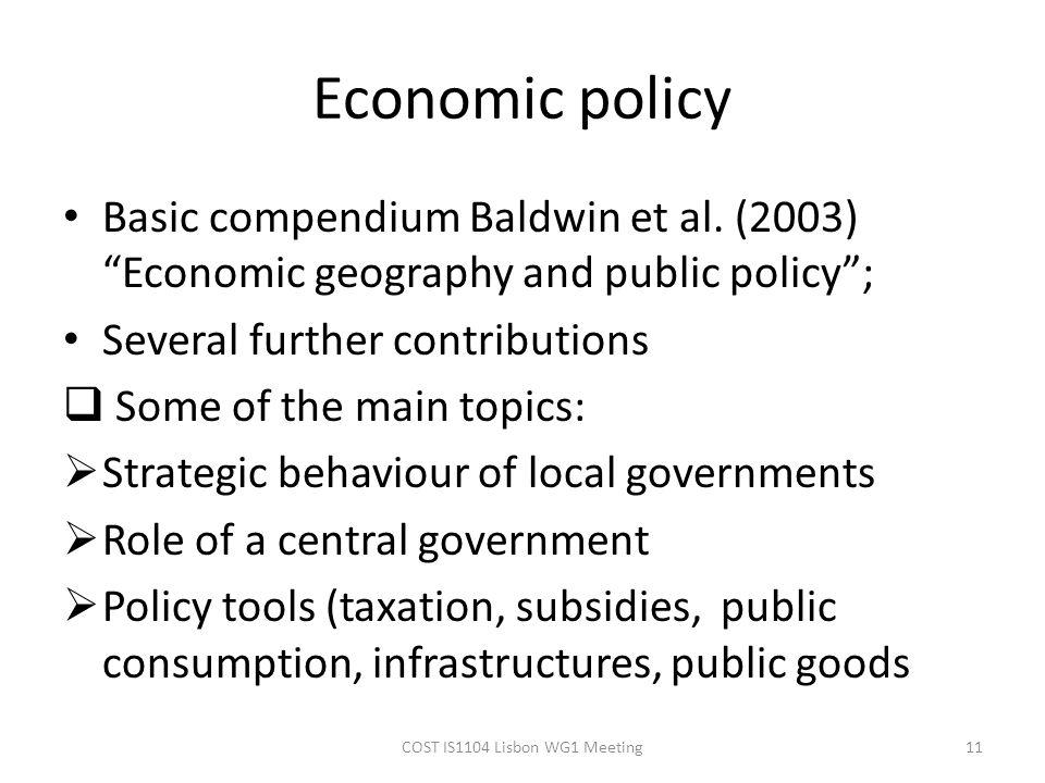 Economic policy Basic compendium Baldwin et al.