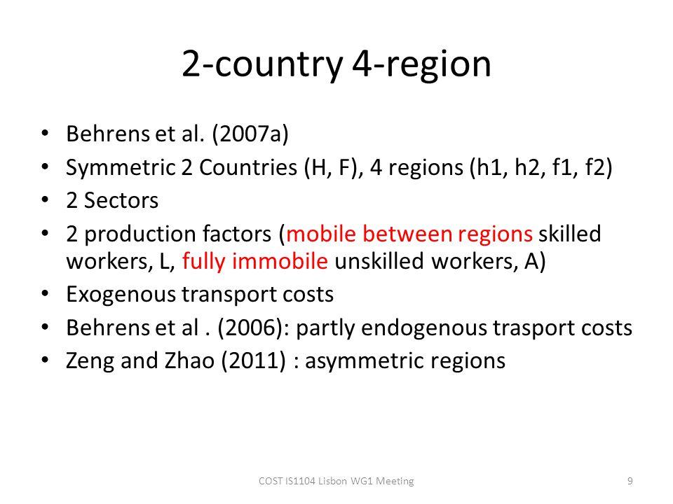 2-country 4-region Behrens et al.