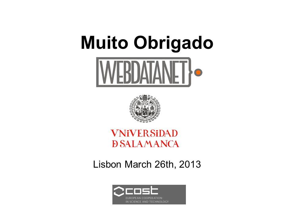Muito Obrigado Lisbon March 26th, 2013