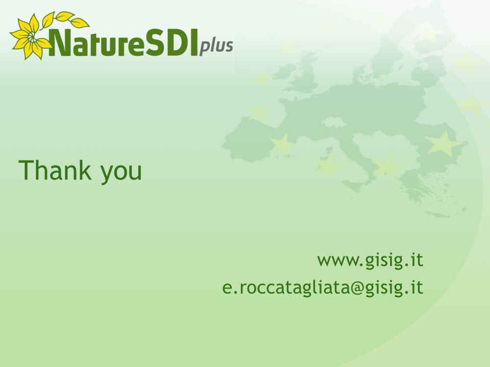 Thank you www.gisig.it e.roccatagliata@gisig.it