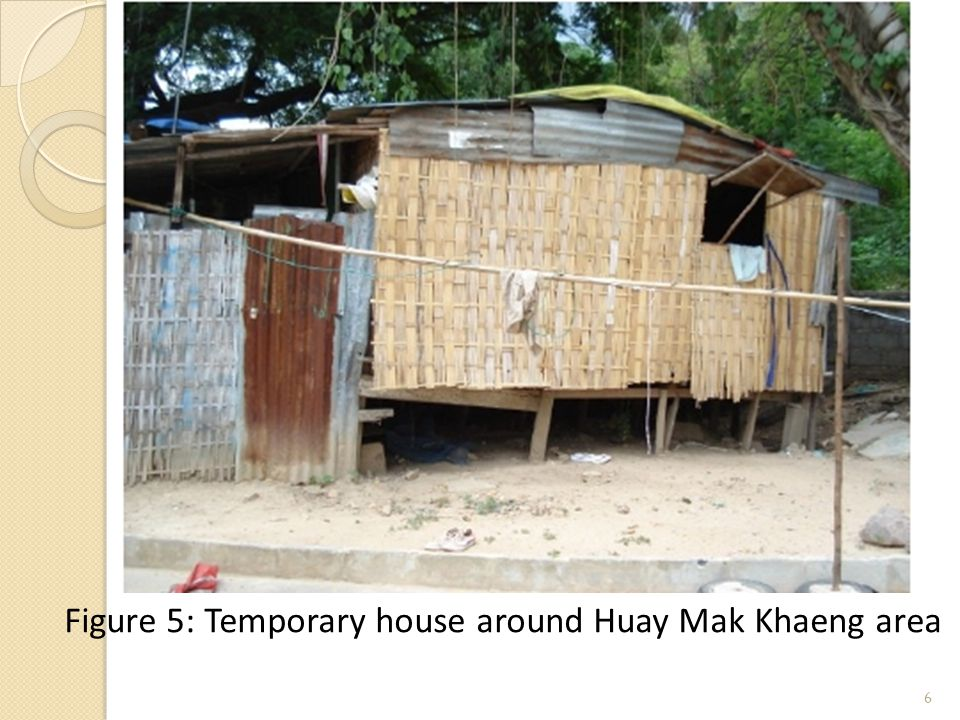 6 Figure 5: Temporary house around Huay Mak Khaeng area