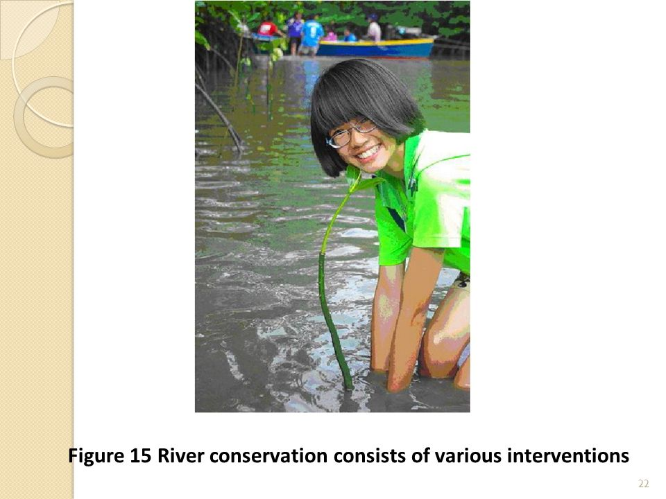 22 Figure 15 River conservation consists of various interventions