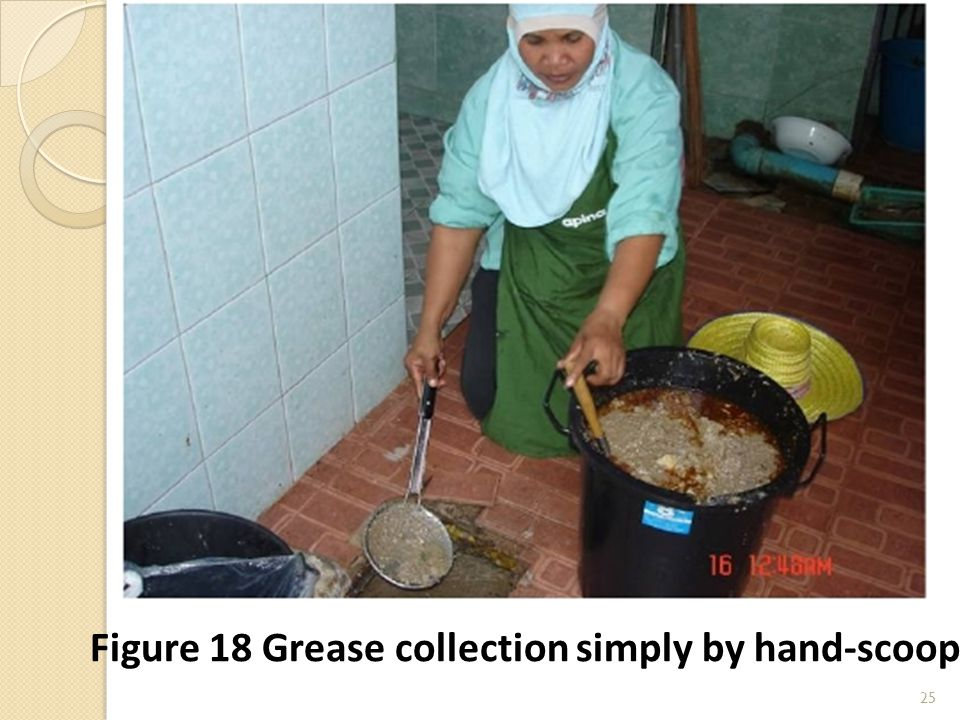 25 Figure 18 Grease collection simply by hand-scoop