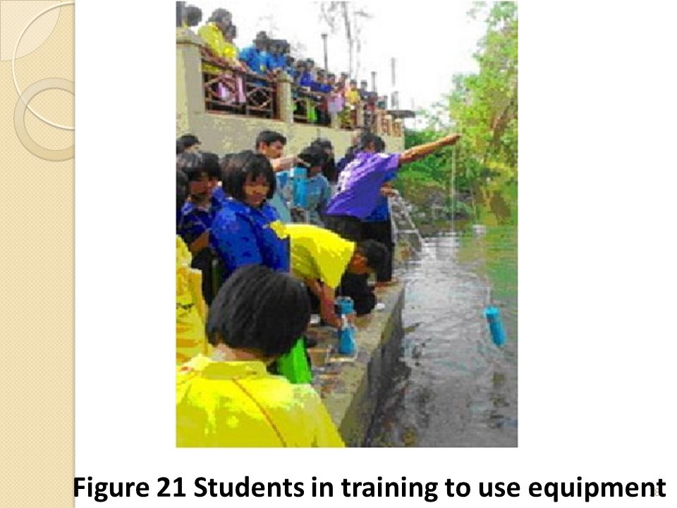 28 Figure 21 Students in training to use equipment