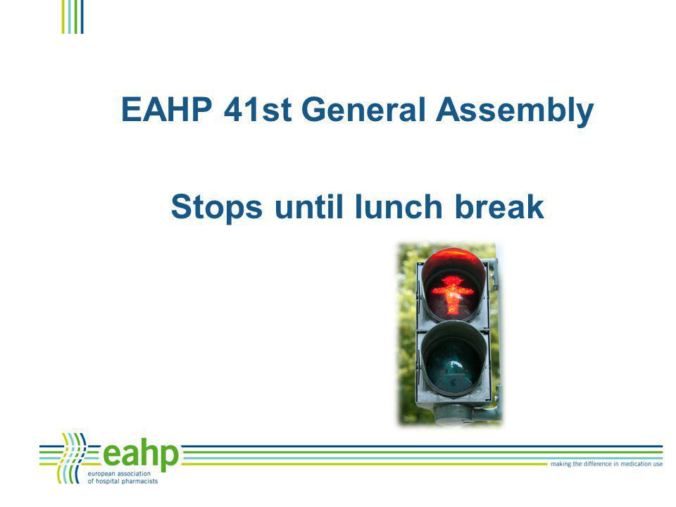EAHP 41st General Assembly Stops until lunch break