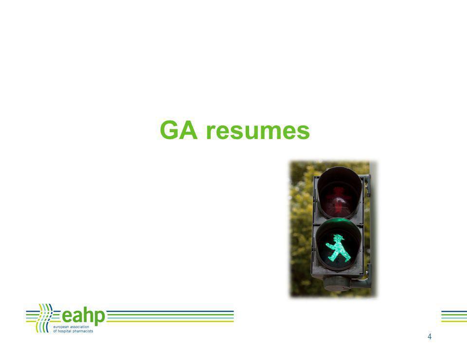 GA resumes 4
